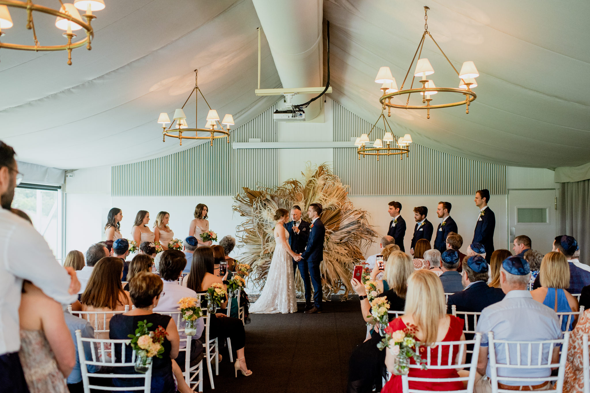 A wedding ceremony held at Victoria Park, Brisbane