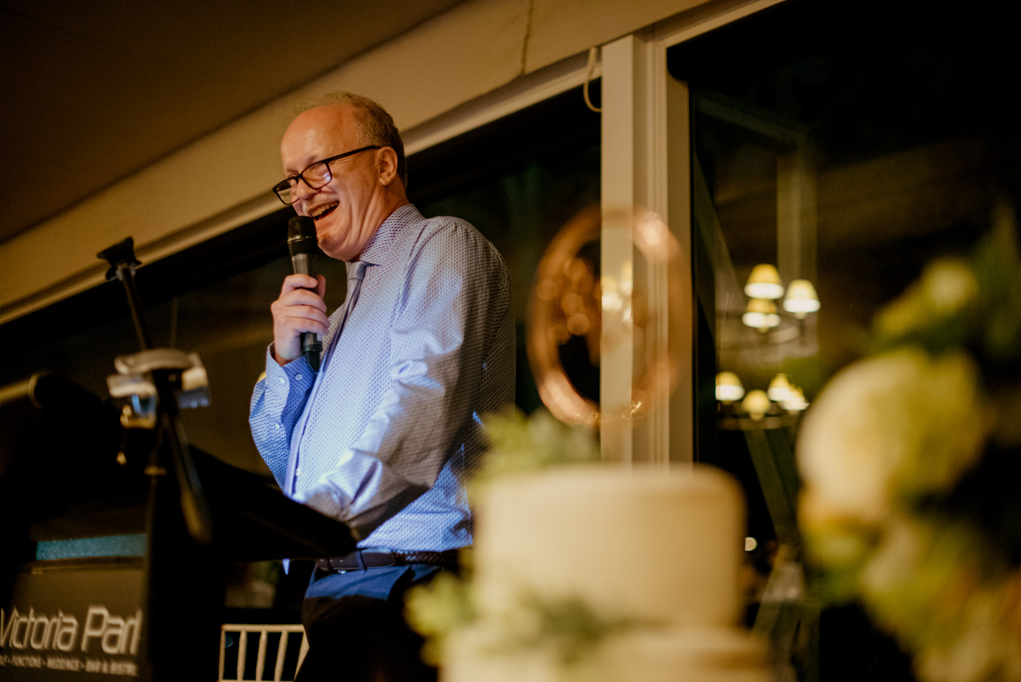 Father of the groom delivers wedding speech
